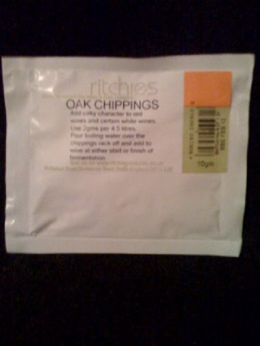 Ritchies Oak Chippings Sachet for 30 Bottles
